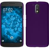 Hardcase for Motorola Moto G4 Plus rubberized purple