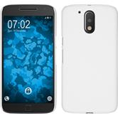 Hardcase for Motorola Moto G4 Plus rubberized white