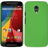 Hardcase for Motorola Moto G 2014 2. Generation rubberized green