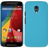 Hardcase for Motorola Moto G 2014 2. Generation rubberized light blue