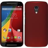 Hardcase for Motorola Moto G 2014 2. Generation rubberized red