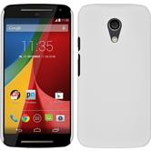 Hardcase for Motorola Moto G 2014 2. Generation rubberized white