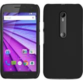 Hardcase for Motorola Moto G 2015 3. Generation rubberized black