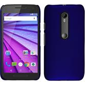 Hardcase for Motorola Moto G 2015 3. Generation rubberized blue