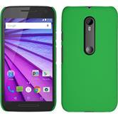 Hardcase for Motorola Moto G 2015 3. Generation rubberized green
