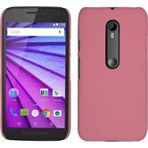 Hardcase for Motorola Moto G 2015 3. Generation rubberized pink