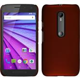 Hardcase for Motorola Moto G 2015 3. Generation rubberized red