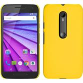 Hardcase for Motorola Moto G 2015 3. Generation rubberized yellow