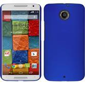 Hardcase for Motorola Moto X 2014 2. Generation rubberized blue