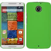 Hardcase for Motorola Moto X 2014 2. Generation rubberized green