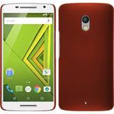 Hardcase for Motorola Moto X Play rubberized red