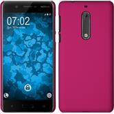 Hardcase for Nokia 5 rubberized hot pink