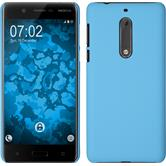 Hardcase for Nokia 5 rubberized light blue