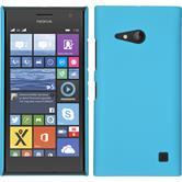 Hardcase for Nokia Lumia 730 rubberized light blue