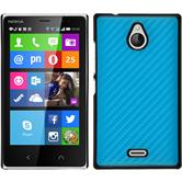 Hardcase for Nokia X2 carbon optics blue