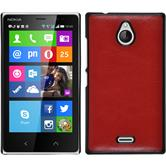 Hardcase for Nokia X2 leather optics red