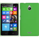 Hardcase for Nokia X2 rubberized green