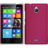 Hardcase for Nokia X2 rubberized hot pink