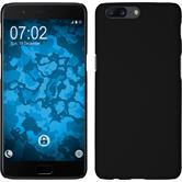 Hardcase OnePlus 5 rubberized black + protective foils