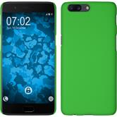 Hardcase OnePlus 5 rubberized green + protective foils