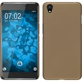 Hardcase for OnePlus OnePlus X rubberized gold