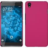 Hardcase for OnePlus OnePlus X rubberized hot pink