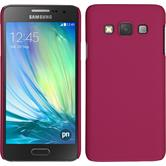 Hardcase for Samsung Galaxy A3 rubberized hot pink