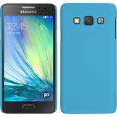 Hardcase for Samsung Galaxy A3 rubberized light blue
