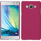 Hardcase for Samsung Galaxy A5 rubberized hot pink