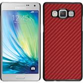 Hardcase for Samsung Galaxy A7 carbon optics red