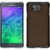 Hardcase for Samsung Galaxy Alpha carbon optics bronze