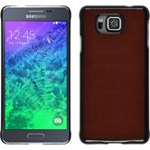 Hardcase for Samsung Galaxy Alpha leather optics brown