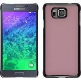 Hardcase for Samsung Galaxy Alpha leather optics pink