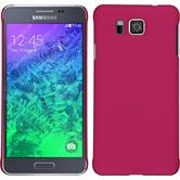 Hardcase for Samsung Galaxy Alpha rubberized hot pink