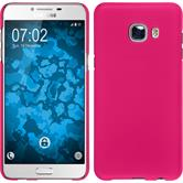 Hardcase for Samsung Galaxy C5 rubberized hot pink