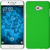Hardcase Galaxy C7 Pro rubberized green + protective foils