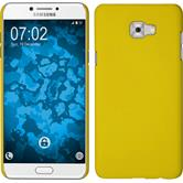 Hardcase Galaxy C7 Pro rubberized yellow + protective foils
