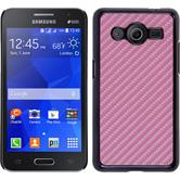 Hardcase for Samsung Galaxy Core 2 carbon optics hot pink
