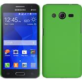Hardcase for Samsung Galaxy Core 2 rubberized green