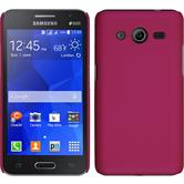 Hardcase for Samsung Galaxy Core 2 rubberized hot pink