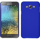 Hardcase for Samsung Galaxy E7 rubberized blue
