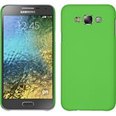 Hardcase for Samsung Galaxy E7 rubberized green