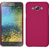 Hardcase for Samsung Galaxy E7 rubberized hot pink