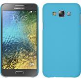Hardcase for Samsung Galaxy E7 rubberized light blue
