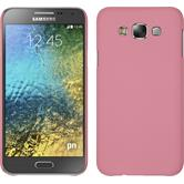 Hardcase for Samsung Galaxy E7 rubberized pink