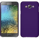 Hardcase for Samsung Galaxy E7 rubberized purple