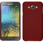 Hardcase for Samsung Galaxy E7 rubberized red