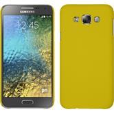Hardcase for Samsung Galaxy E7 rubberized yellow