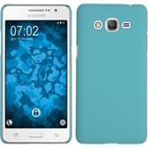 Hardcase Galaxy Grand Prime Plus rubberized light blue