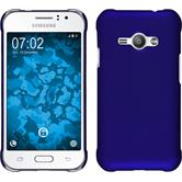 Hardcase for Samsung Galaxy J1 Ace rubberized blue